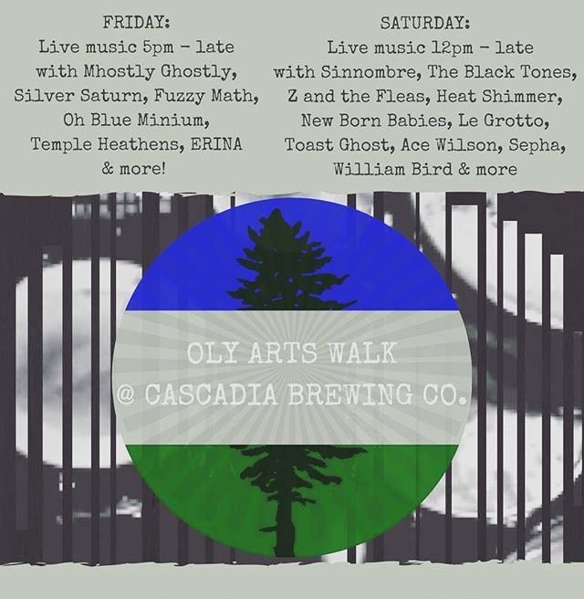 First solo show this Friday for Artswalk 2018! My set time was switched from 6 and is now at 10 pm at Cascadia Brewing Co. - - - #flyingsaucers #nasa #toomuchgear