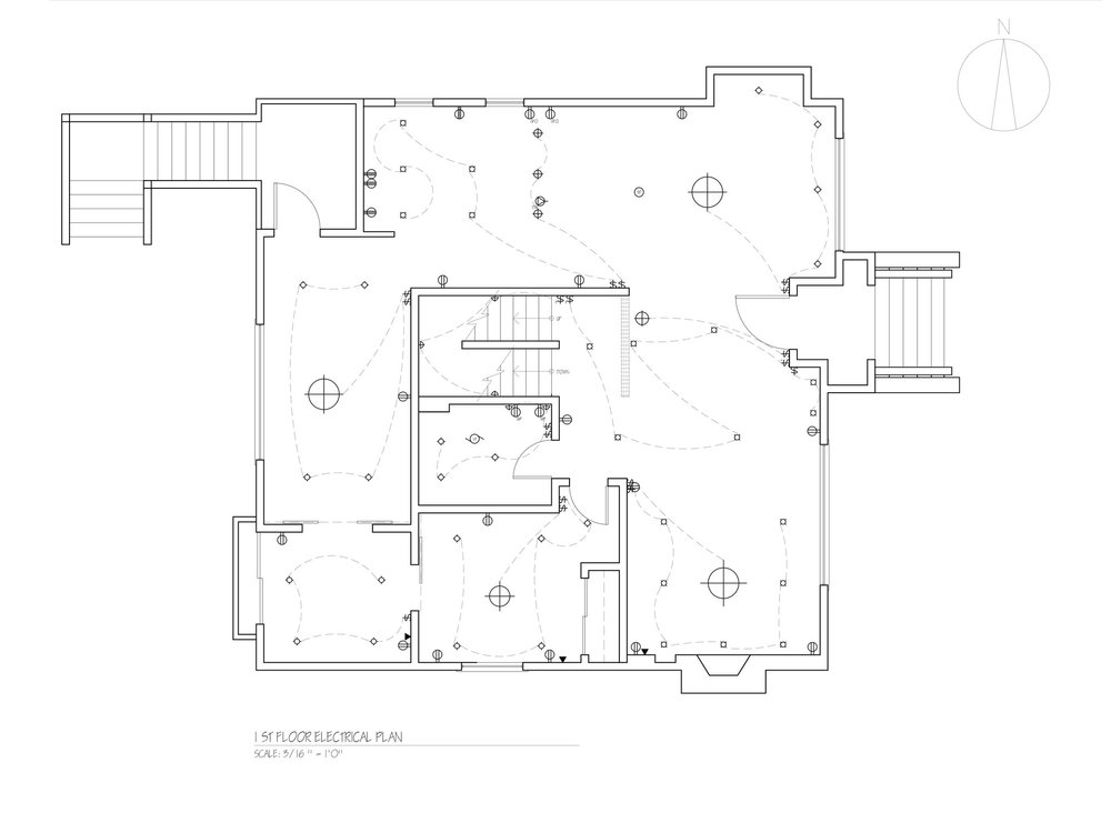 Fantastic Electrical Plan Residential Embellishment - Electrical and ...