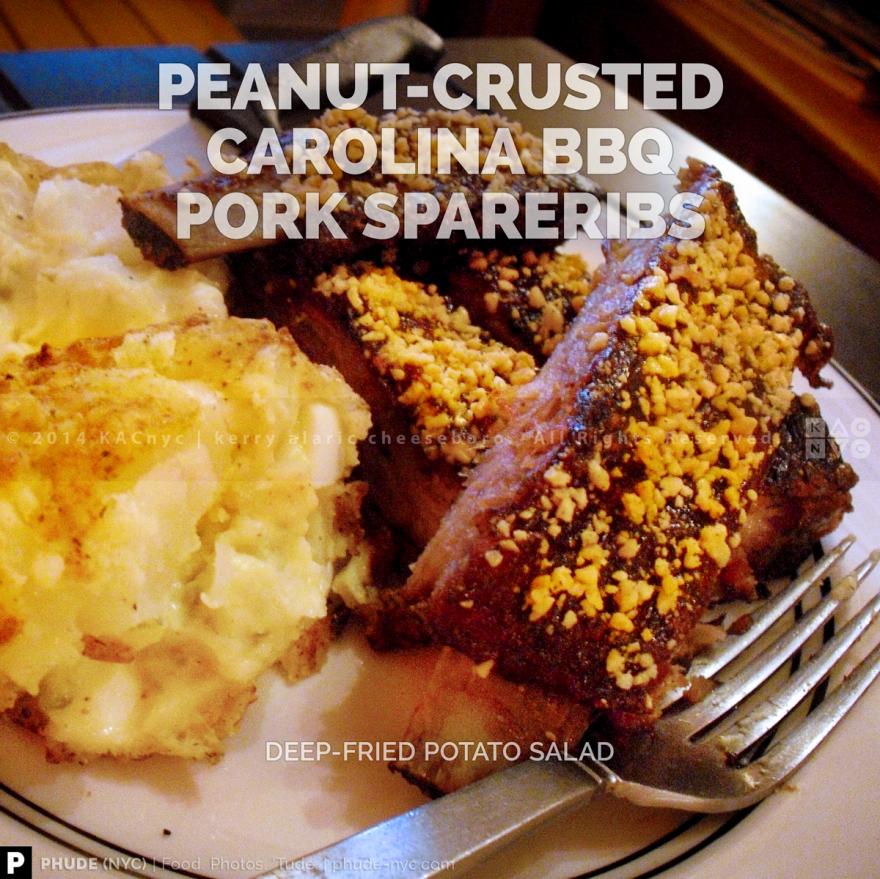 Peanut-Crusted Carolina BBQ Pork Spareribs