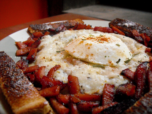 Butter-Poached Egg | Candied Ham | Grits with Mushroom & Parmesan