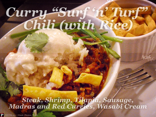 Asian Curry Surf 'n' Turf Chili