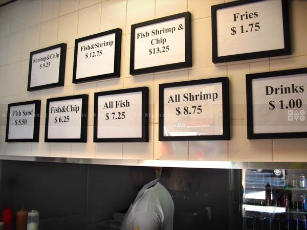 Famous Fish Market Menu