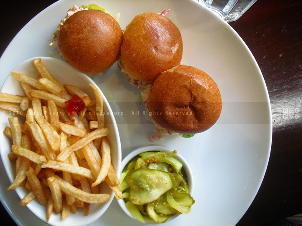 5 Napkin Burger Lobster Sliders