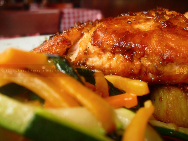 Teriyaki-Glazed Pan-Seared Salmon Filet