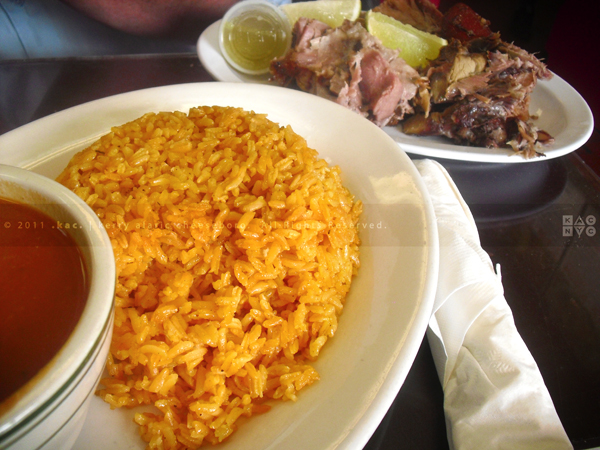 Pork Pernil with Rice & Beans, Sandy Restaurant, East Harlem