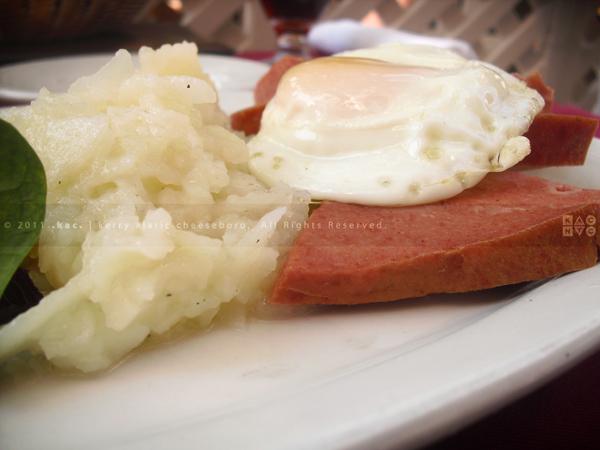 Leberkäse with Potato Salad & Egg
