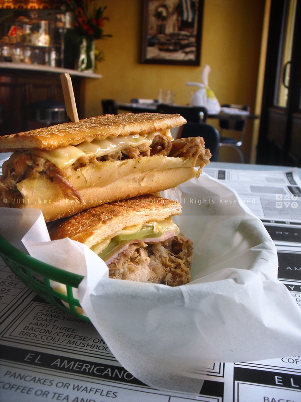 Coppelia, Cuban Sandwich