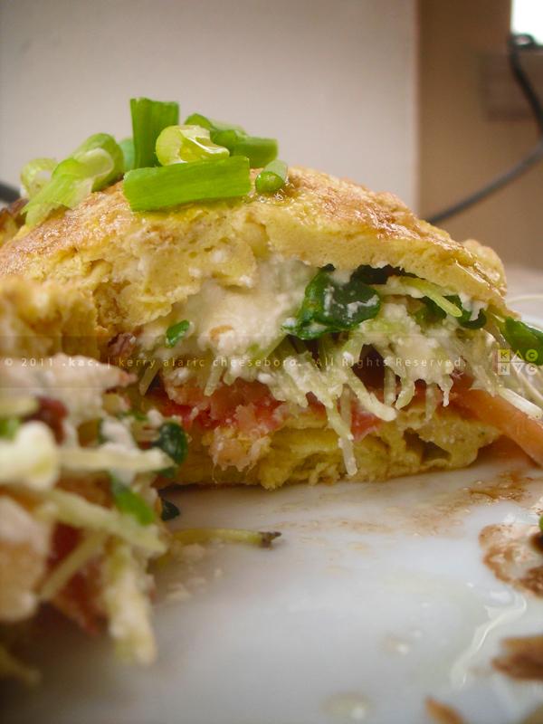 Smoked Salmon and Sopprasata Omelet
