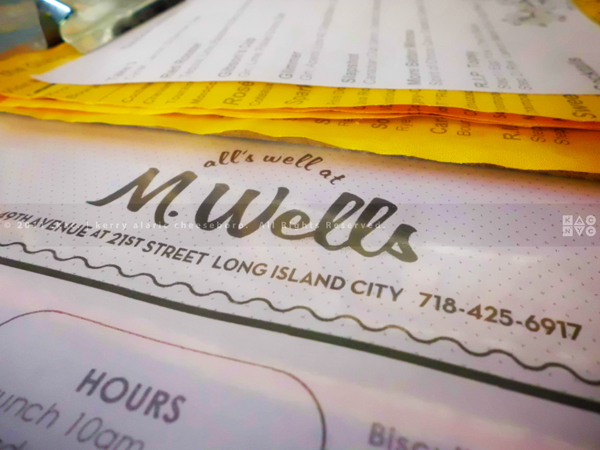 M. Wells Diner | Menu