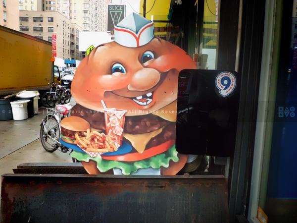 Blue 9 Burger Mascot