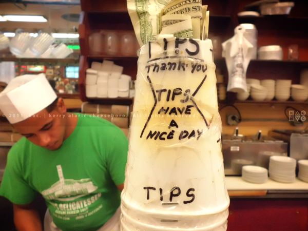 Kat's Delicatessen, Tip Jar