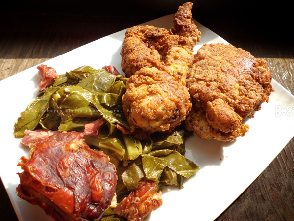 Fried Chicken | Collard Greens with Smoked Turkey Necks