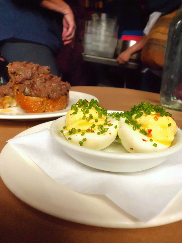 Chicken Liver Toast, Deviled Eggs | The Spotted Pig