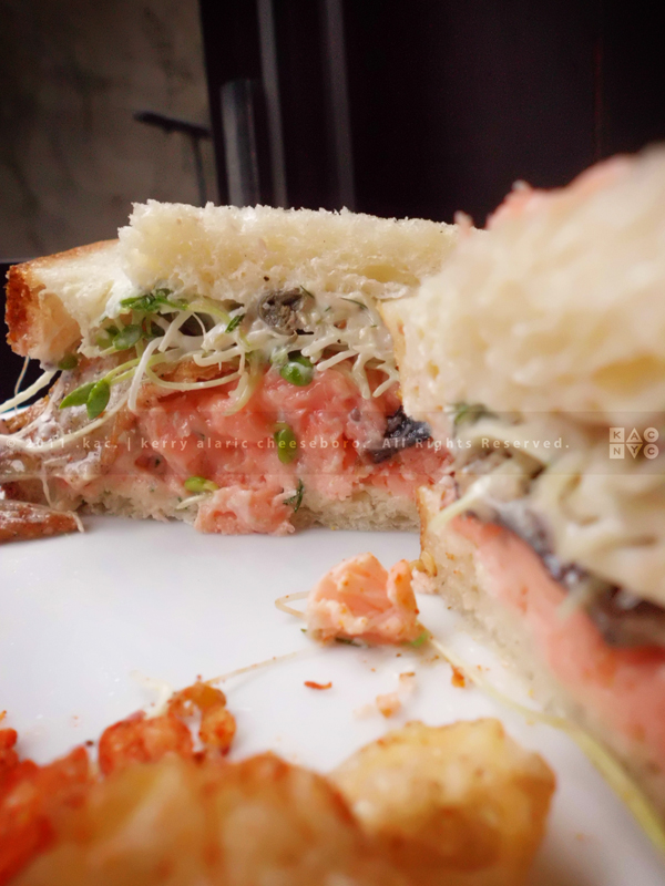 Chilled, Gin-Poached Salmon Sandwich