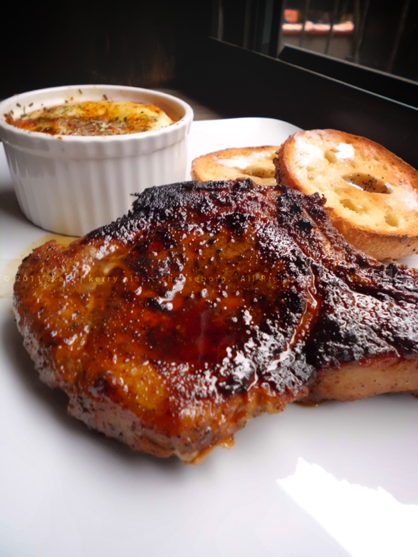 Mustard & Brown Sugar-Grilled Pork Chop