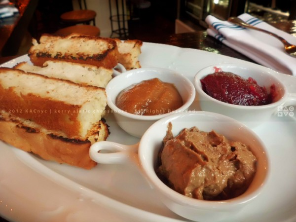 Chicken liver jam, onion compote, cranberry preserves