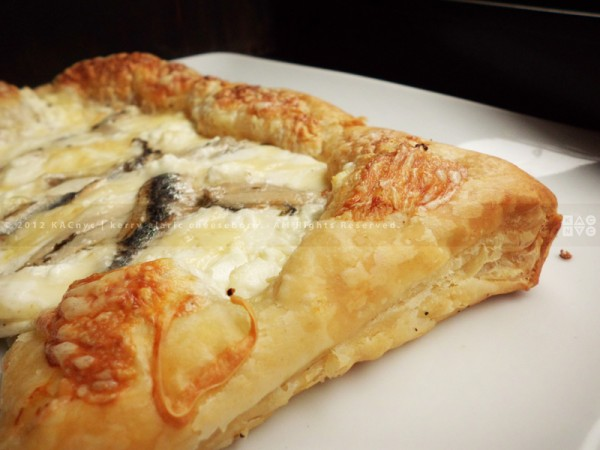 Heavenly White Pizza Pie with White Anchovies