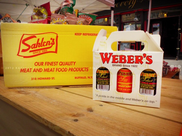 Sahlen's Dogs and Weber's Mustards