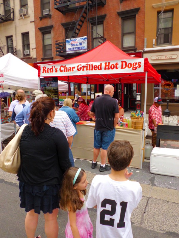 RED'S Hot Dogs booth