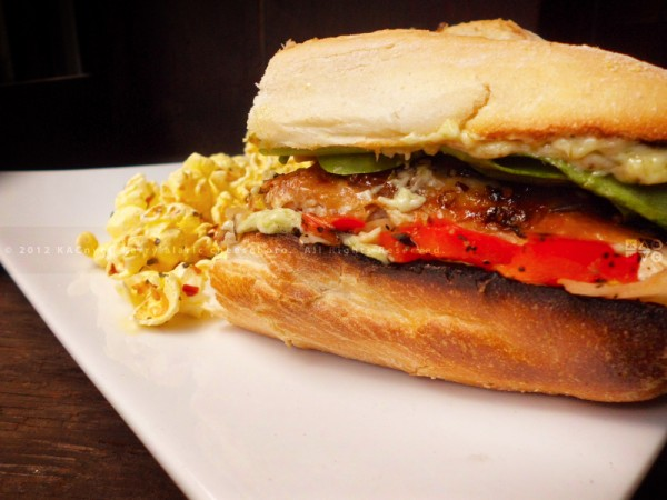 Roast Chicken Sandwich with Red Pepper Relish