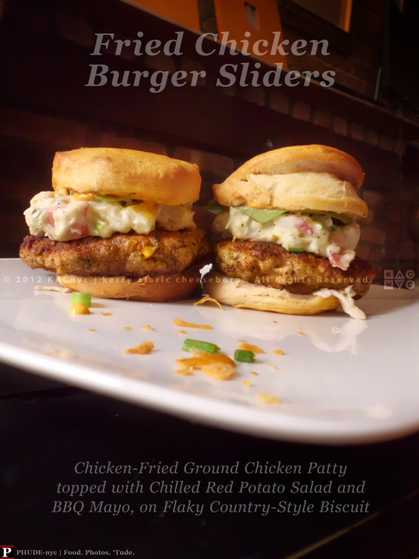 Fried Chicken Burger Sliders