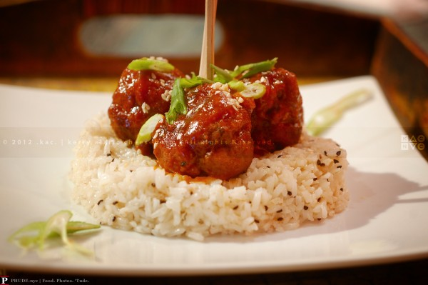Asian Sweet & Spicy BBQ Pork Meatballs