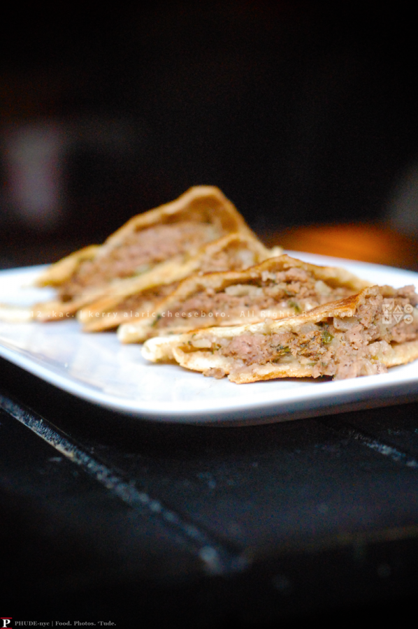 Grilled Pita Sandwich with Spiced Lamb