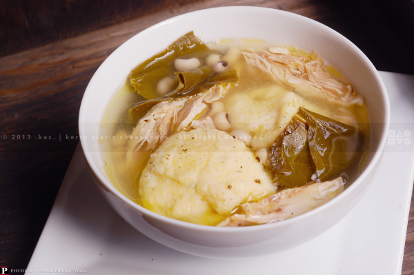 Corn Ball Soup with Chicken
