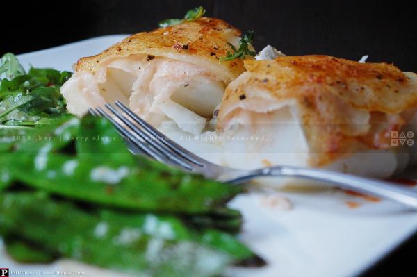 Sliced Potato & Pancetta-Topped Cod Filet
