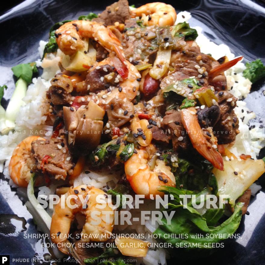 Spicy Surf 'n' Turf Stir-Fry