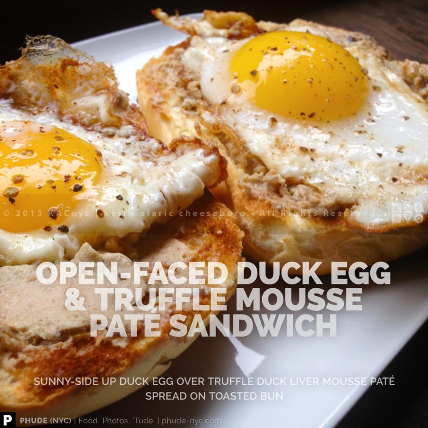 Duck Egg & Liver Mousse Sandwich