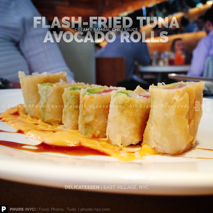 Flash-Fried Tuna Avocado Roll