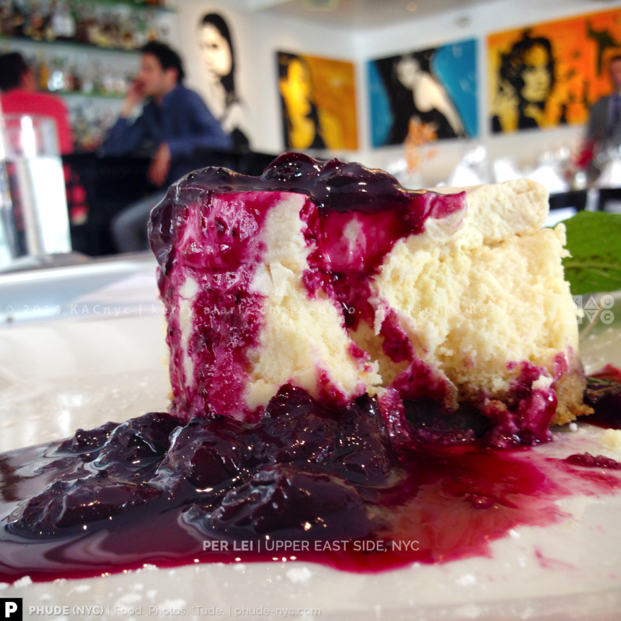 Mascarpone NY Cheesecake with Blueberry Marmalade