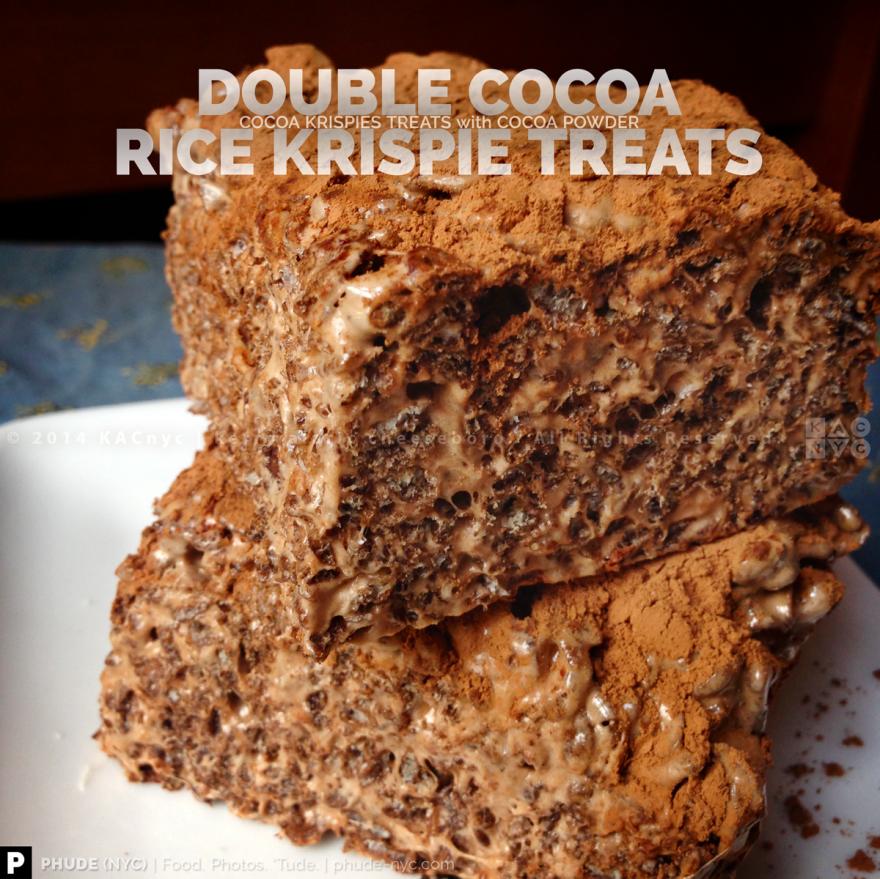 Double Cocoa Krispies Treats