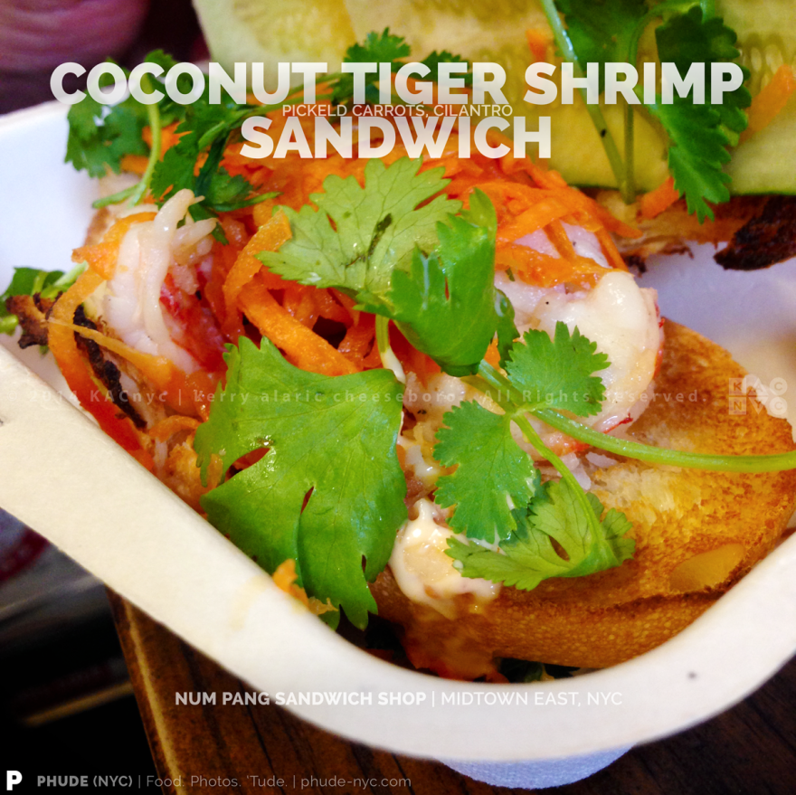 Coconut Tiger Shrimp Sandwich