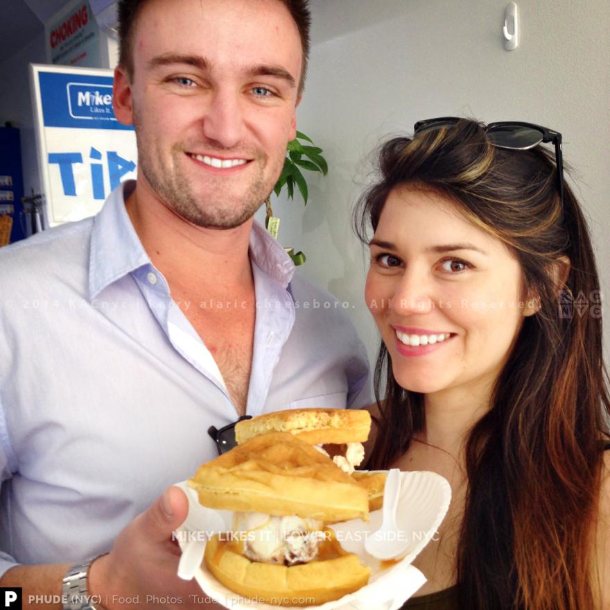 Daddy Mac Waffle Ice Cream Sandwich