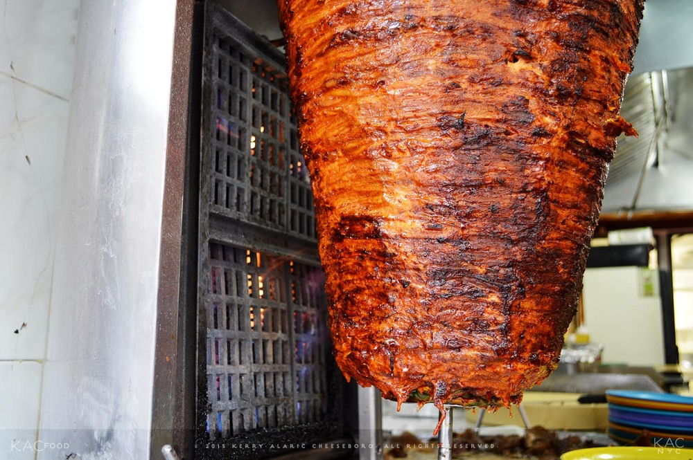 Al Pastor Pork on the trompo at Taco Mix.