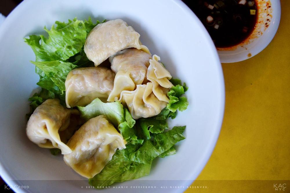 CRAWFISH DUMPLINGS | Spicy Teriyaki Dipping Sauce | MOONCAKE FOODS | Soho, NYC