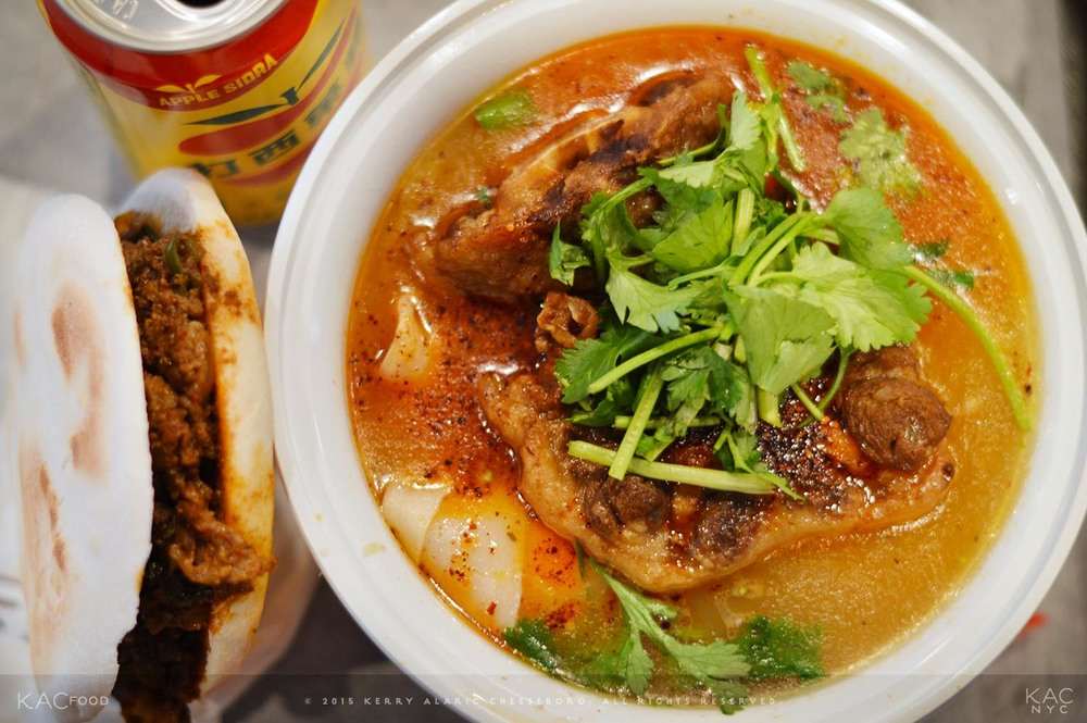 STEWED OXTAIL HAND-RIPPED NOODLE IN SOUP | Extra Spicy | XI'AN FAMOUS FOODS | Upper East Side, NYC