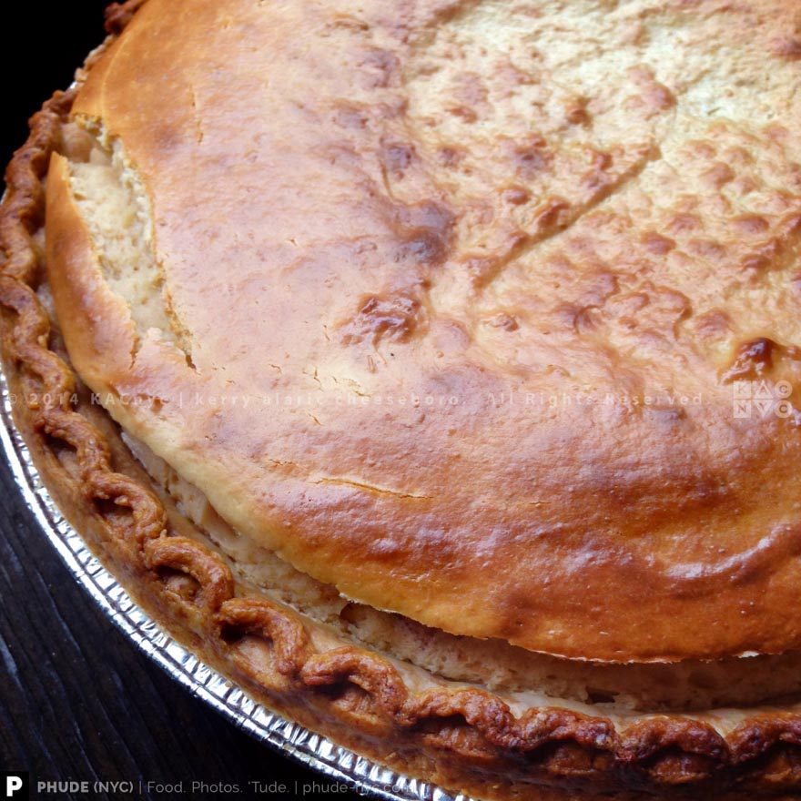 PB&J CHEESECAKE PIE | Peanut Butter Cheesecake, Ginger Strawberry-Plum Jam Sauce, Flaky Buttery Crust