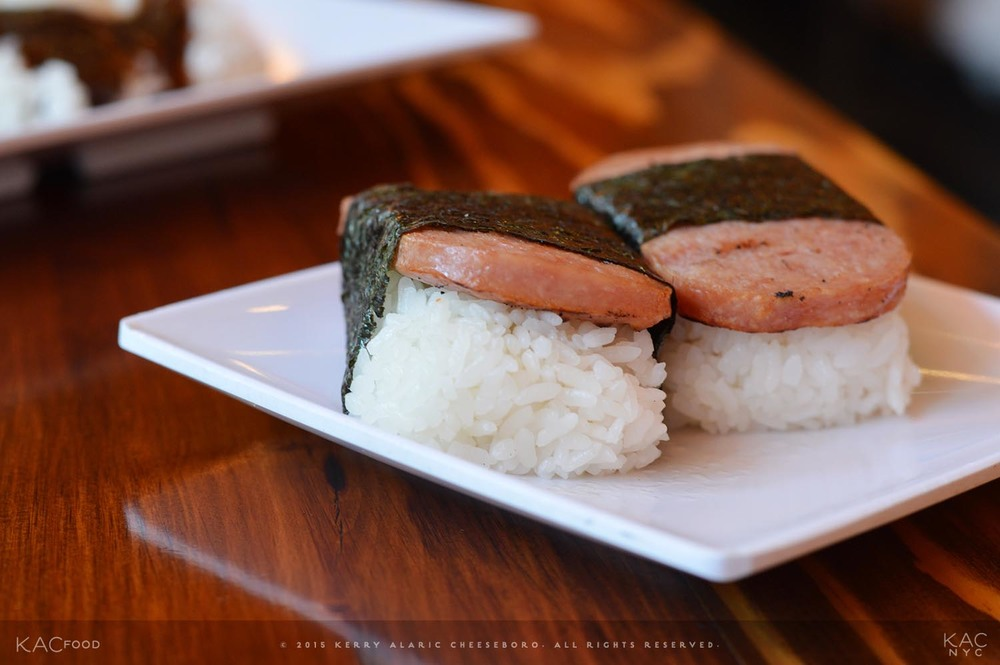 SPAM MUSUBI | Grilled Teriyaki-Glazed Spam over Rice, wrapped in Nori (Dried Seaweed) | MAKANA | Manhattanville, NYC