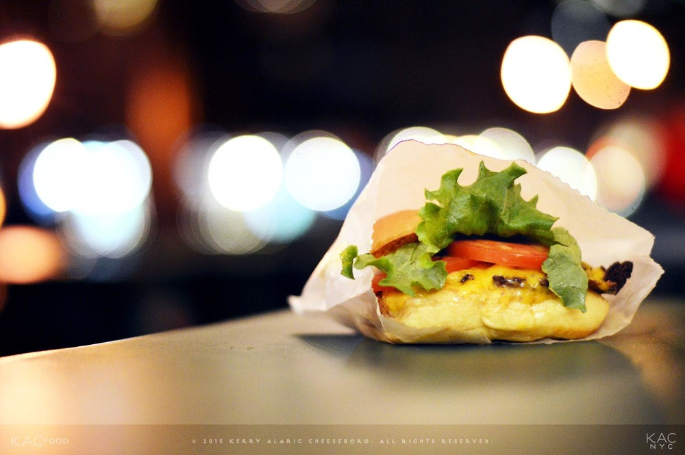 SHACKBURGER® | Cheeseburger topped with Lettuce, Tomato, and Shacksauce | SHAKE SHACK | Madison Square Park, NYC