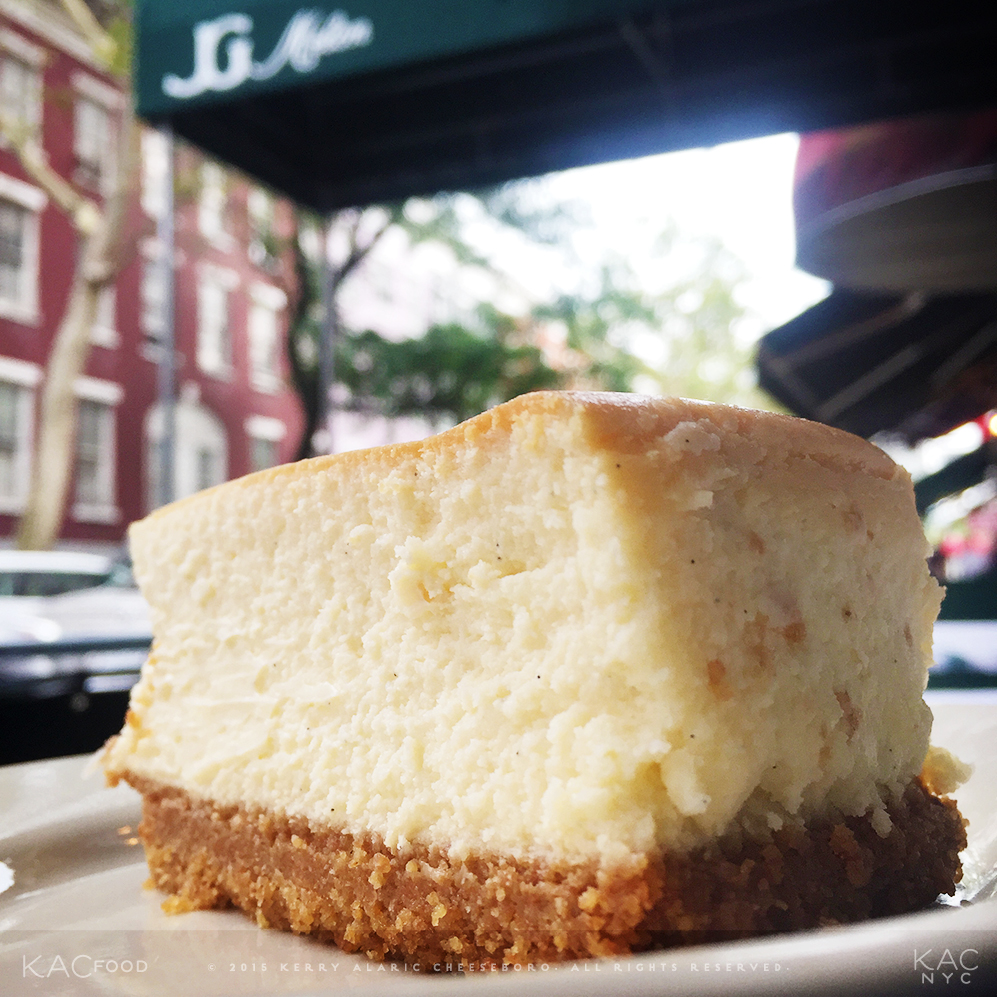 CHEESCAKE | (From Magnolia Bakery) | J.G. MELON | Greenwich Village, NYC