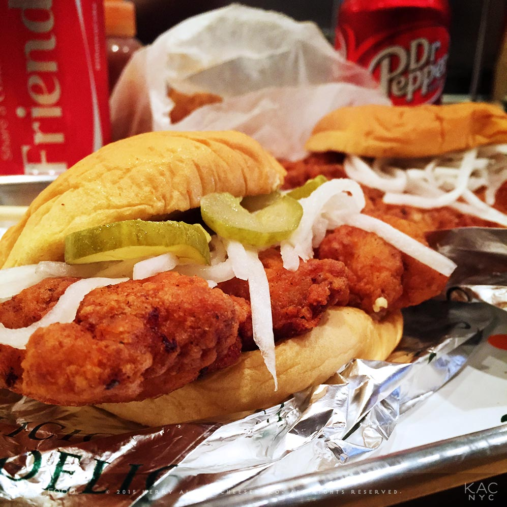 FRIED CHICKEN SANDWICH   Pickles, Daikon Slaw, Potato Roll  FUKU   East Village, NYC