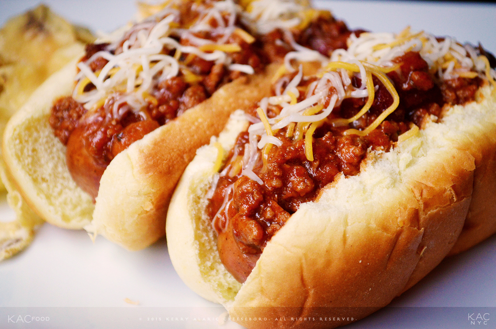 KAC 2-MEAT 2-BEAN CHILI (Smoked Brats) | Spicy Ground Beef and Lamb Meat Chili with Kidney and Pinto Beans | Colby Jack and Cheddar Cheeses