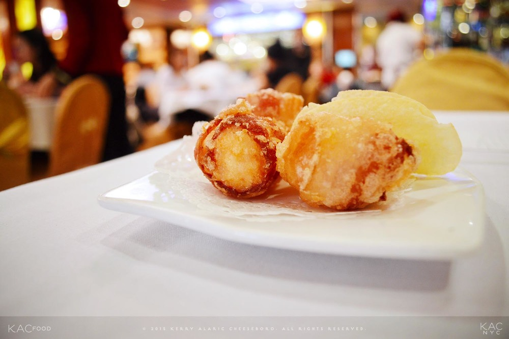 DIM SUM | Bacon-Wrapped Shrimp Ball | GOLDEN UNICORN | Chinatown, NYC