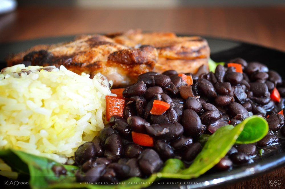 Black Beans with Red Peppers