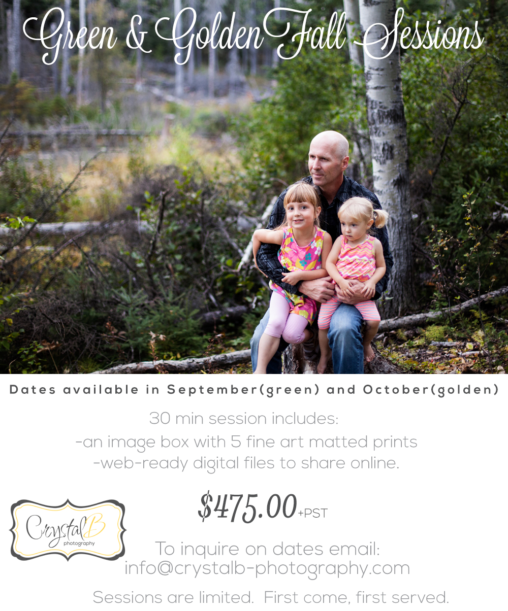 Special Fall Sessions — CrystalB Photography
