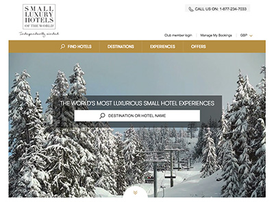search with online tool to find small luxury hotels