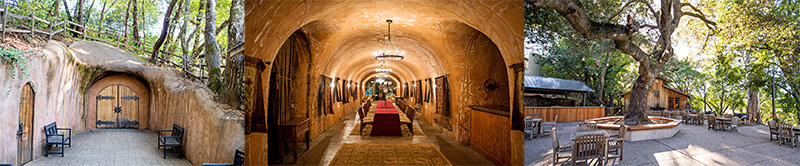 WINE CAVE AND TERRACE AT BENIZGER AND IMAGE WINERIES